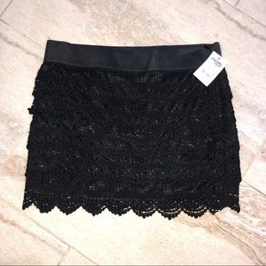 Black Crochet Skirt! Brand New with Tags!🖤